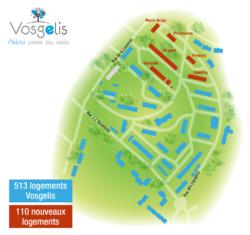 Plan du quartier du Haut-du-Gras