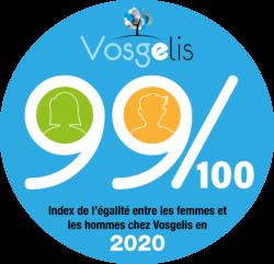99/100, index de l'égalité chez Vosgelis en 2021